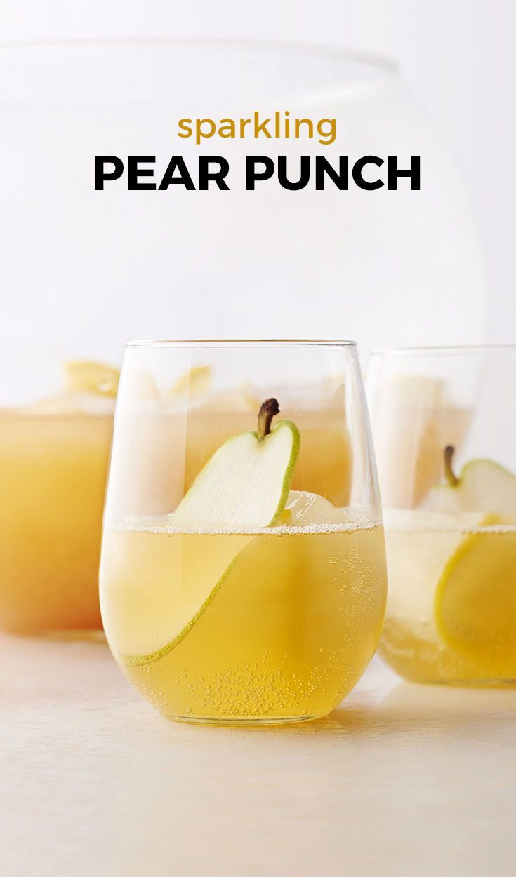 Bring a little bit of fall to your evening cocktail! Try this sparkling punch using a favorite autumn fruit.