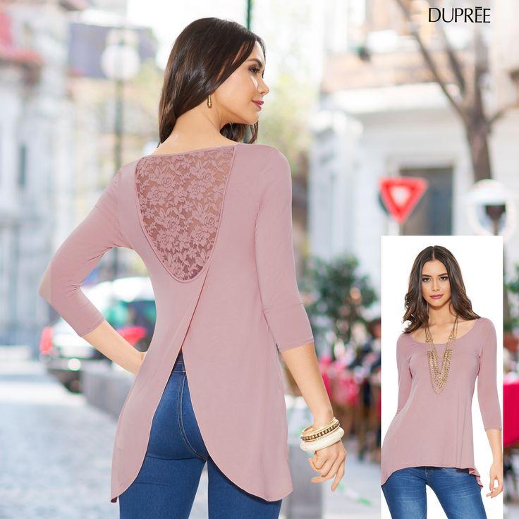 Blusa palo de rosa. Delicada y femenina