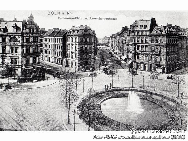 Good old Barbarossaplatz before ww2