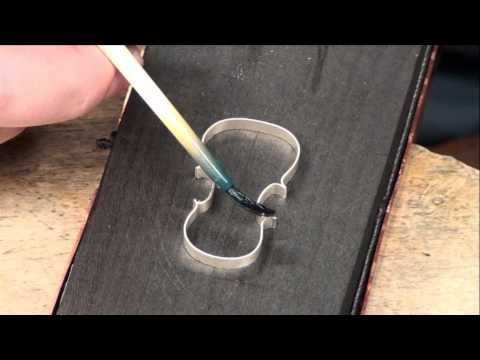 This is a video about fabricating a little violin made of Sterling Silver. You can see nearly every step using very simple tools. In this part you can watch how to build the ribs.