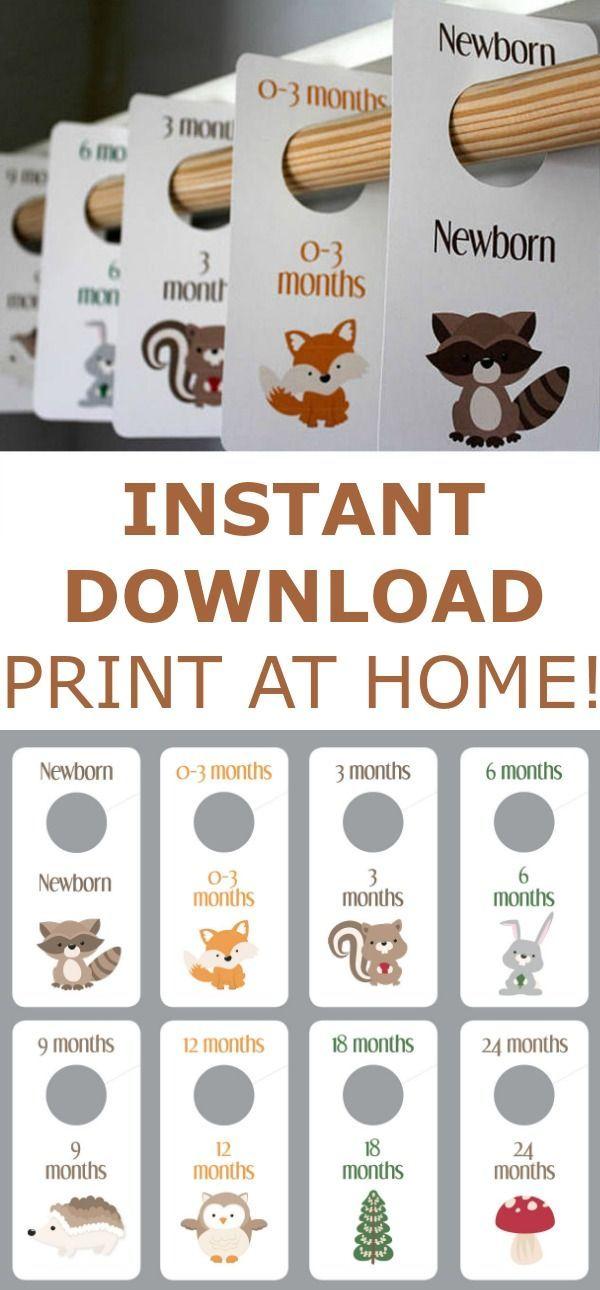 Woodland Creatures - Baby Boy Closet Dividers - Animals - Printable - Baby Room - Nursery Decor - Nursery Organization - Baby Shower Gift  #Affiliate