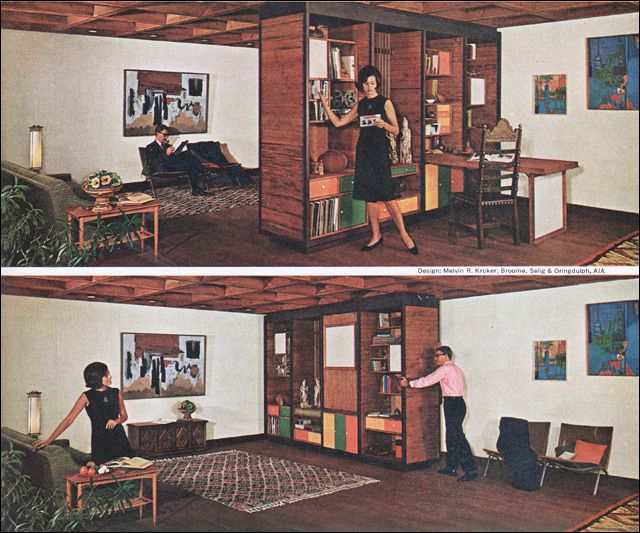 1966 Modular Living Room Westwood Cabinets