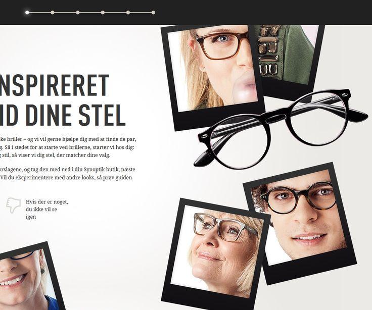 Er du til classic eller trendy? Til stærke farver eller metal? Prøv Synoptiks Brilleguide og spor dig ind på dit favoritlook. I hvert trin af guiden tilkendegiver du, hvad du kan lide – og ikke lide, og til sidst samler vi de briller, der matcher…