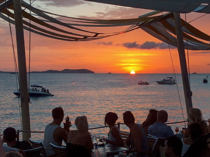 Sunset time at Cafe Mambo. Bliss.
