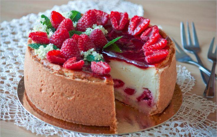 Malinový+tvarožník+–+cheesecake