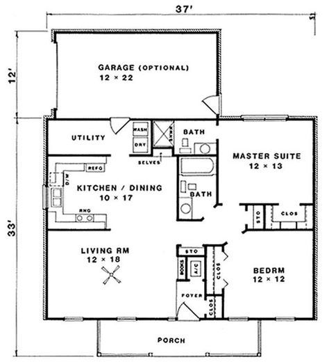 Traditional country ranch farmhouse house plan home for Ranch floor plans with mudroom