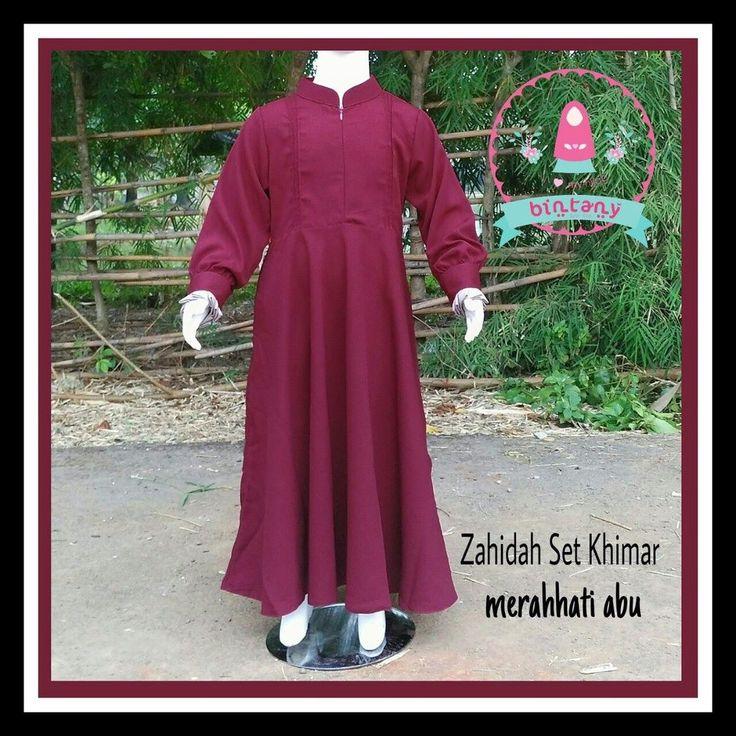 Bismillaah Yuk dipesan gamis anak dari Bintany Syar'i Kids cantik dan nyaman buat si kecil shalihah  Zahidah Set Khimar Gamis set jilbab free cadar tali  Detail : > rok bawah lebar > lipit kecil di dada > jilbab panjang dan lebar > saku kanan > resleting depan > manset remple kancing cetit  Material : Woolycrep (halus & lembut)  Size & Harga : Size 2-4 Rp.299.000 Size 6-8 Rp.329.000 Size 10 Rp. 349.000 Size 12 Rp. 399.000  Pilihan warna :  Biru Turkis  Abu available size 2  Coklat Kopi…