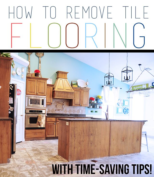 How To Remove Tile Flooring Yourself With Tips And Tricks Diy Kitchen Renovation For The