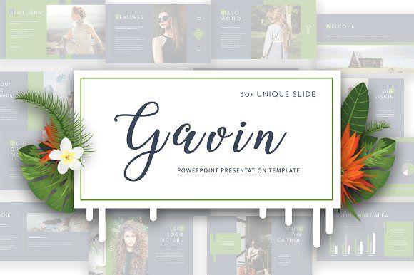 Gavin Powerpoint Template by Maspiko on @creativemarket