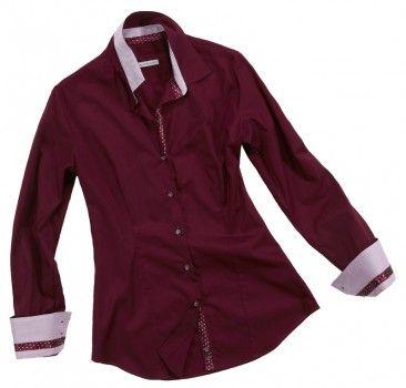 Camicia bordeaux a doppia tinta. Seguici anche su                           www.redisrappresentanze.it