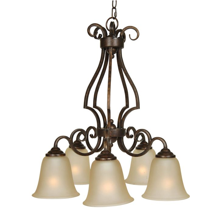 jeremiah cecilia 5light down chandelier in bronze wamber glass in ceiling lights