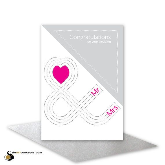 Congratulations on your wedding card Mr & Mrs by stuARTconcepts