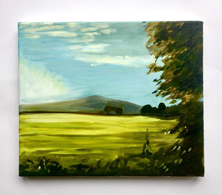 Mount Leinster Emerboweart.  Buy it now on my etsy > https://www.etsy.com/ie/people/emerbowe?ref=hdr_user_menu #Painting #oiloncanvas #Art #oilpainting #oil #canvas #paint #irish #irishartist #EmerBowe #Impressions #Colour #Mountains #irish #Nature #Outside