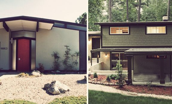 Mid century modern exterior house colors modern - Modern house color schemes exterior ...