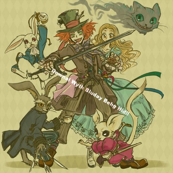 Tags: Anime, Alice In Wonderland, Cheshire Cat, Mad Hatter, Alice (Alice In Wonderland)