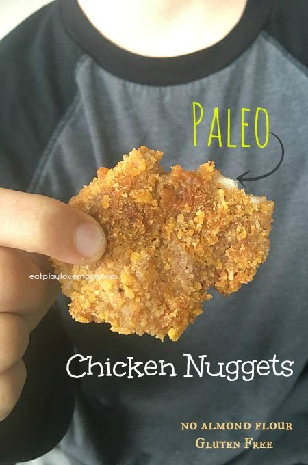 Homemade Paleo Gluten Free chicken nuggets that have no almond flour, are easy and yummy! Even picky eaters love these! The only recipe you will ever need!