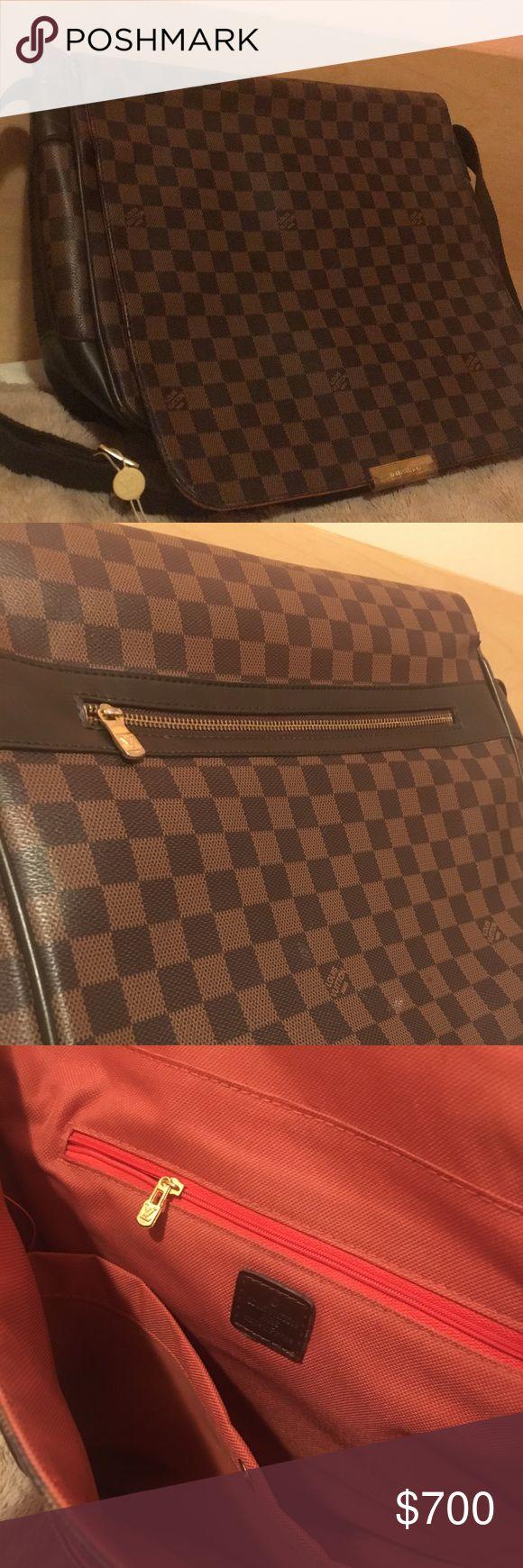 Louis Vuitton Messenger Bag Louis Vuitton bag large enough to double as a laptop bag. Gently worn on exterior hardware. Louis Vuitton Bags Satchels