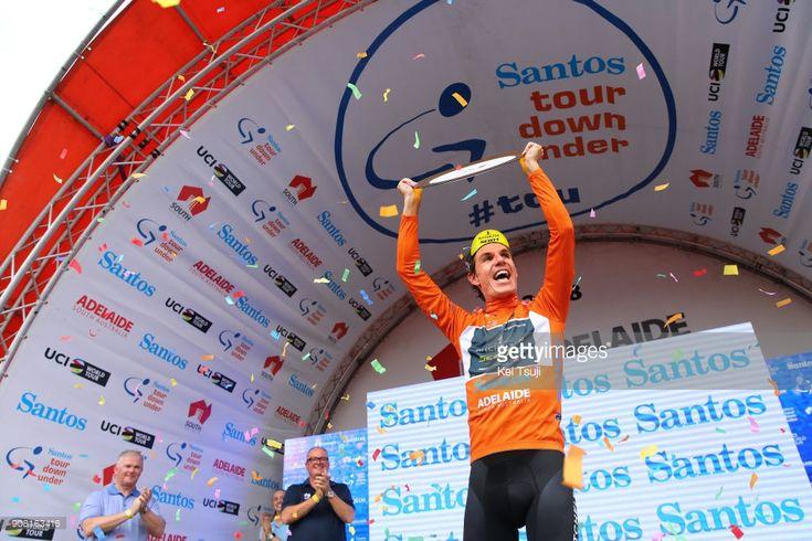 #TDU #seesouthaustralia #uciworldtour 20th Santos Tour Down Under 2018 / Stage 6 Podium / Daryl IMPEY (RSA) Orange Leader Jersey / Celebration / King William Street, Adelaide - King William Street, Adelaide (90km) / Men / TDU /