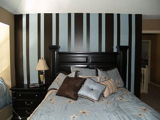 Blue And Brown Striped Bedroom best 20+ stripped painted walls ideas on pinterest | striped