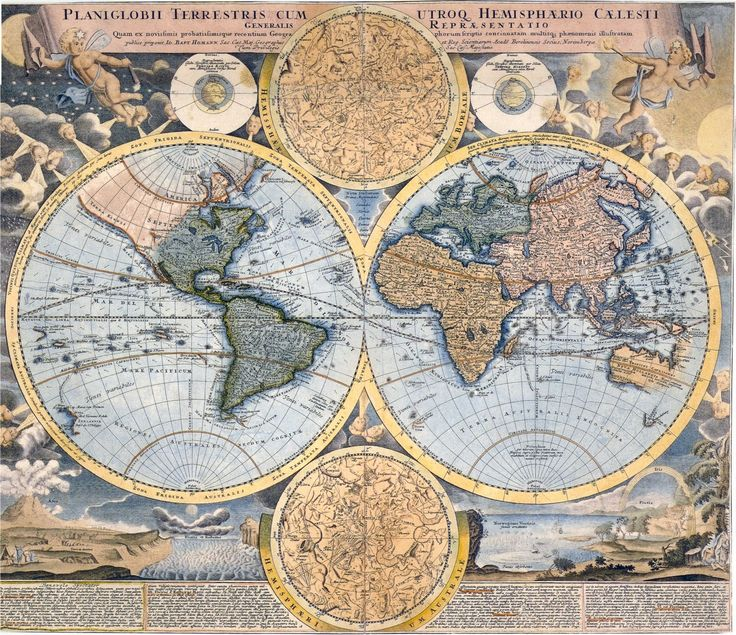 Free Vintage Image Download   Ye Olde Maps     How did people of the past   know what the world looked   like without modern technology ...