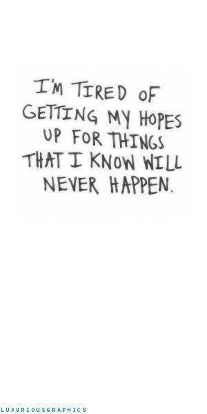 I hate feeling like this. Sigh.