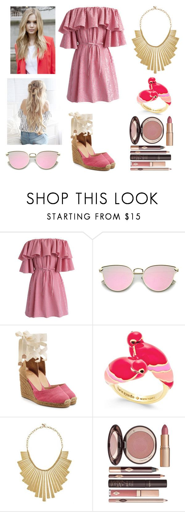 """""""April Stone ~ Spring Formal"""" by accio-hogwarts-81 ❤ liked on Polyvore featuring Chicwish, Castañer, Kate Spade, Lucky Brand and Charlotte Tilbury"""