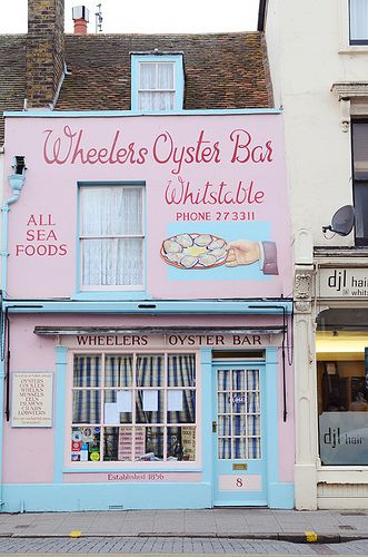 Wheelers Oyster Bar Whitstable.  This is a fantastic restaurant, small and quaint.... Restaurant is in the back room with toilets down the alley!  Fantastic food.......