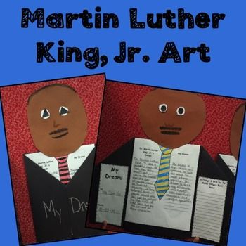 Martin Luther King Jr.Art Activity! Martin Luther King Jr. Art is a terrific culminating activity to any Martin Luther King Jr. lesson or unit of study.  This art project gives students the opportunity to summarize Martin Luther King Jr.'s dream and a chance to write a personal dream.