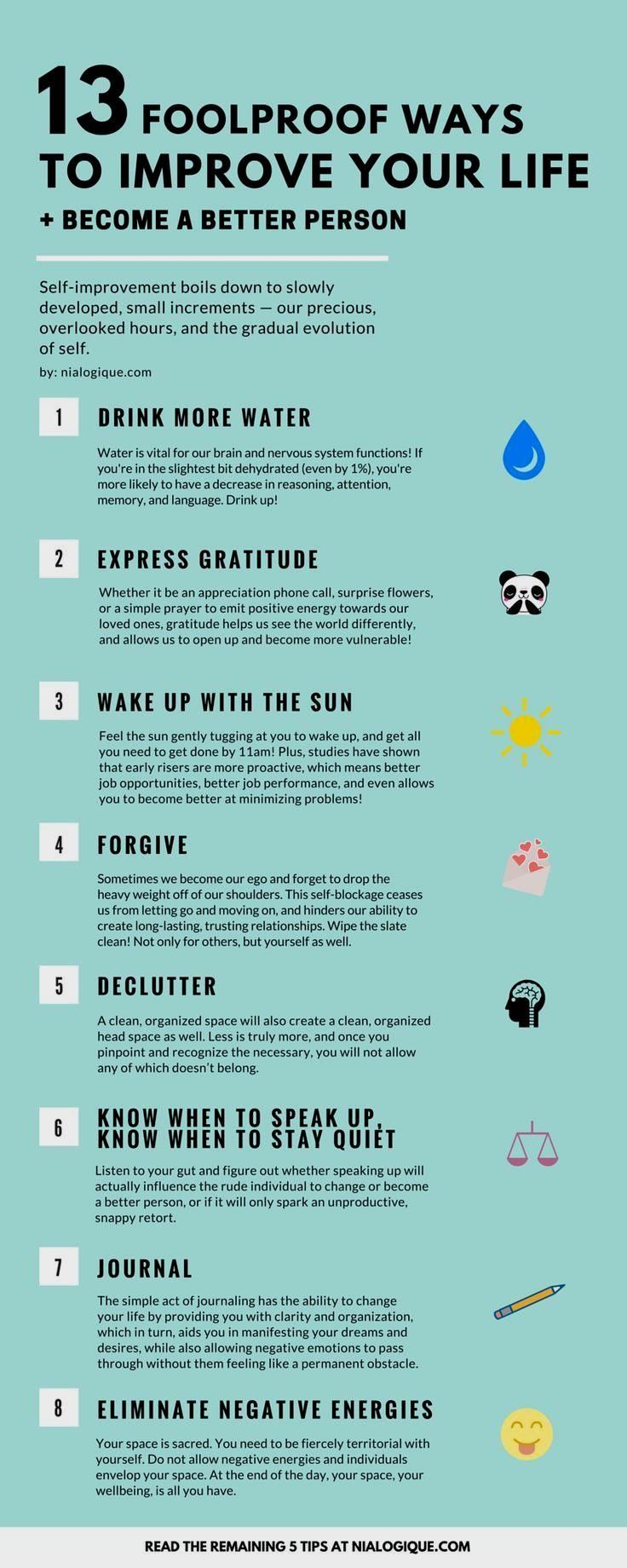 13 ways to improve your life