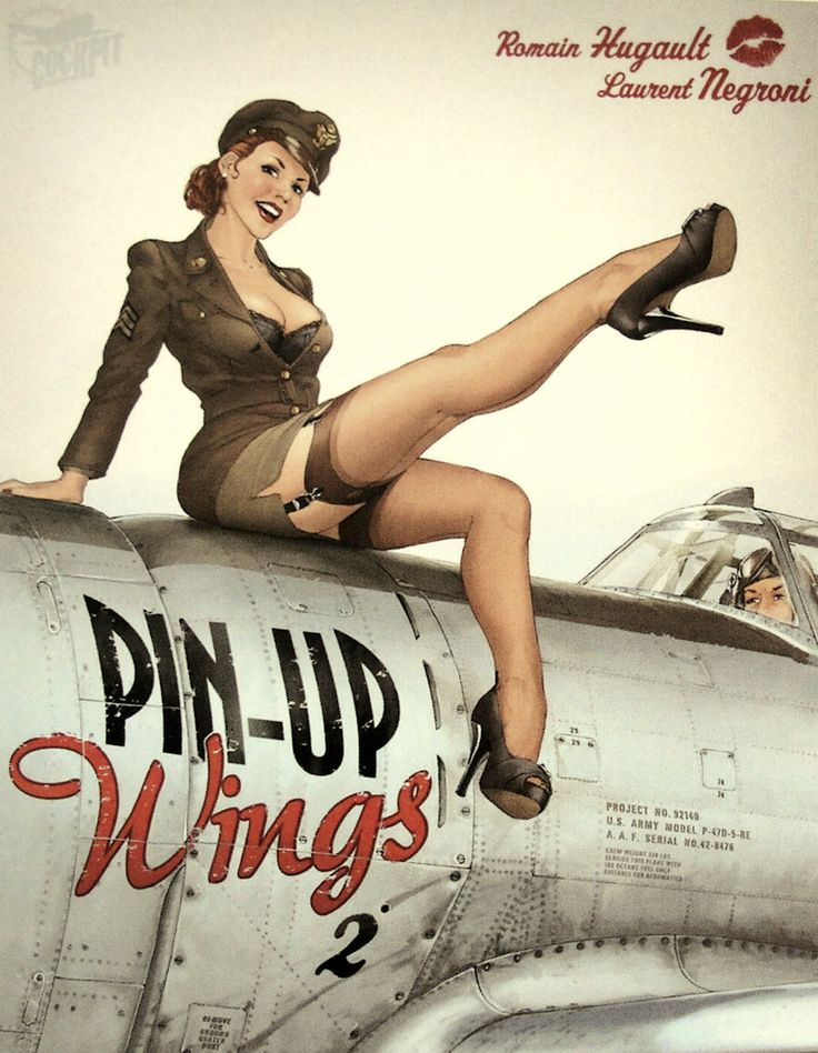 Hot Pin Ups. Saluting our military.