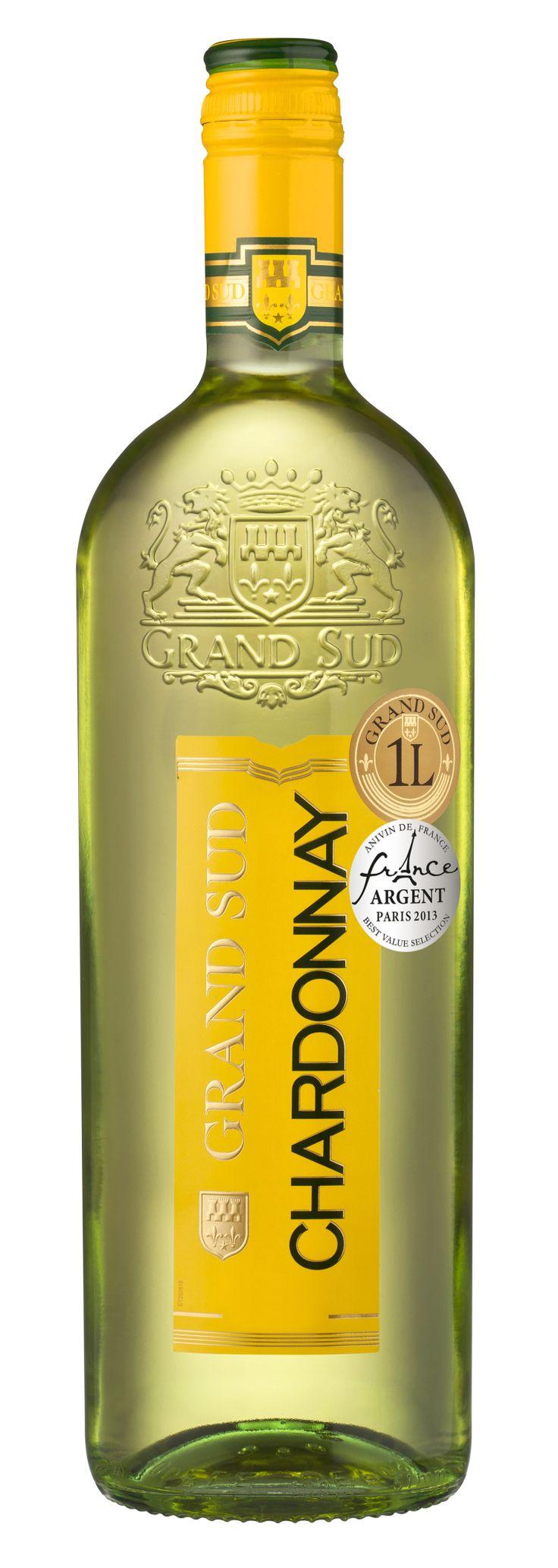 Agréable à l'apéritif, ce #vin accompagne à merveille les poissons, les volailles et les fromages. #Chardonnay #GrandSud #2012