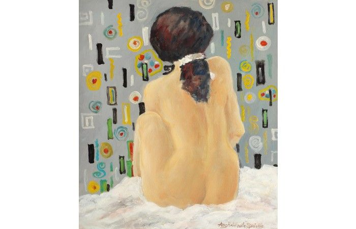 LOT 59 - VASILE ANGHEL SIMINIUC - Intimacy - Oil on canvas - 45 × 40 cm (17.7 × 15.7 inch) - Estimate €600 - €900 http://lavacow.com/current-auctions/lavacow-christmas-auction/intimacy.html#sthash.qugWp5Uz.dpuf