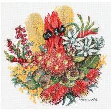 Wildflower Bouquet Helene Wild Counted Cross Stitch Kit