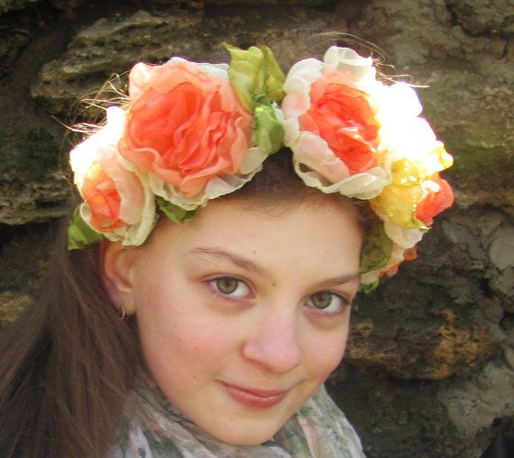 Spring Festival Headband Fabric Flowers by PassionateForBeauty, $54.00