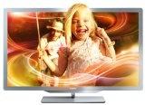 Philips 37PFL7606K/02 94 cm (37 Zoll) Ambilight 3D LED Backlight Fernseher (Full HD, 400 Hz PMR, DVB T/C/S, Smart TV) silbergrau