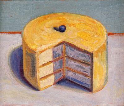 Wayne Thiebaud / Lemon Cake.