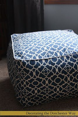 Decorating the Dorchester Way: My version of the Pouf! Tutorial