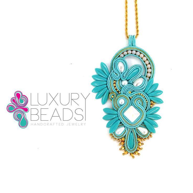 Soutache pendant ! ••••••••••••••••••••••••••••••••••••••••••••••••• #luxurybeads #soutache #soutachemania #soutachelovers #turquoise #beadwork #accessories #accesorios #handmade #jewelry #beunique