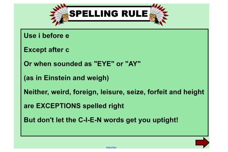 Explore the spelling rule: i for e except after c, plus the exceptions with this fun IWB lesson. http://schools.interactivelessons.com.au/ http://interactivelessons.com.au/