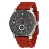 Fossil Machine Silicone Watch Red (Watch)  #Whatches