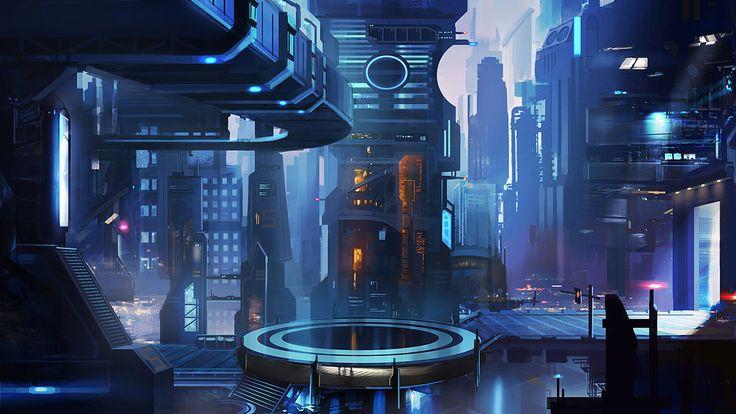 Futuristic City, Sci-Fi City 2 by mrainbowwj on deviantART