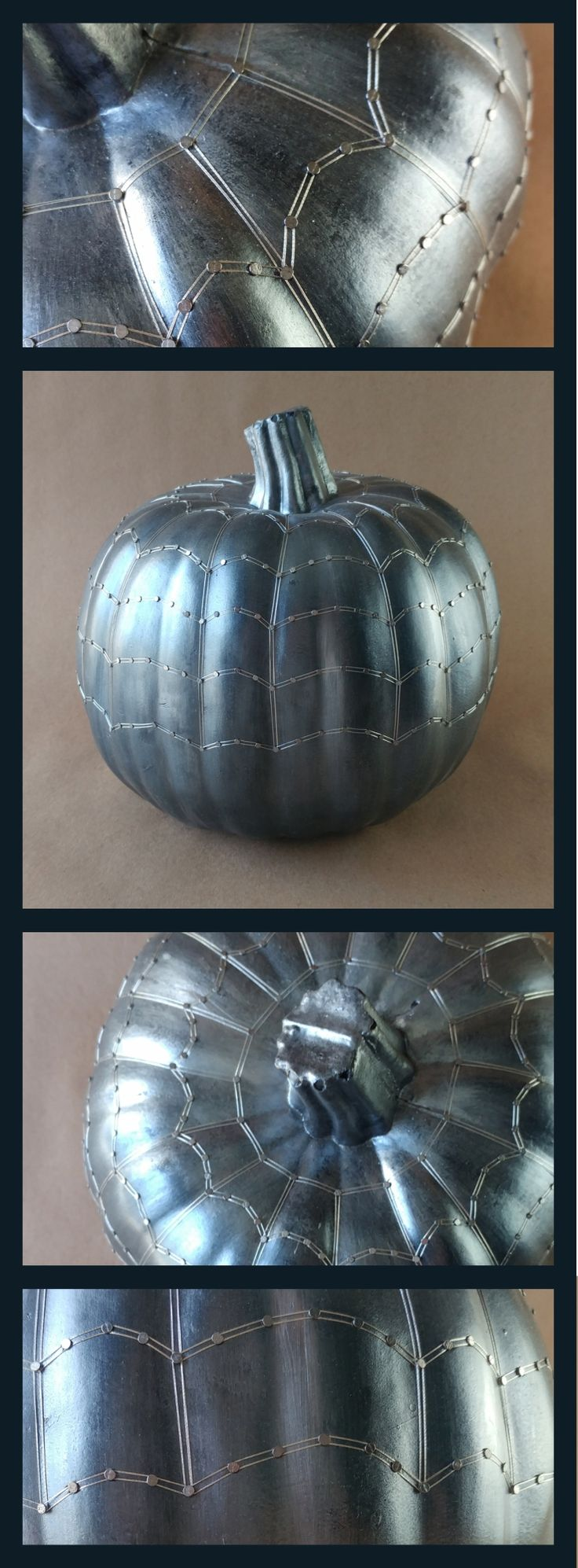 One-of-a-kind, handmade halloween pumpkin perfect for fall decorations and events like parties and weddings