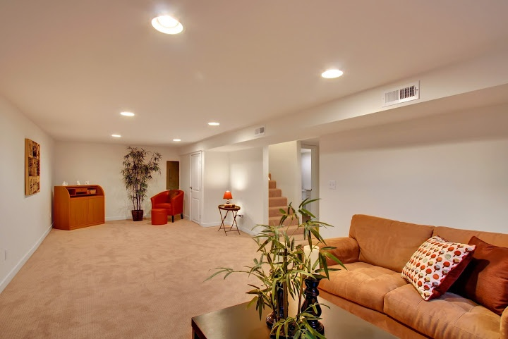 Refinished basement in this beautiful Seattle home
