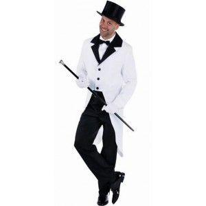 Déguisement queue de pie blanche homme luxe