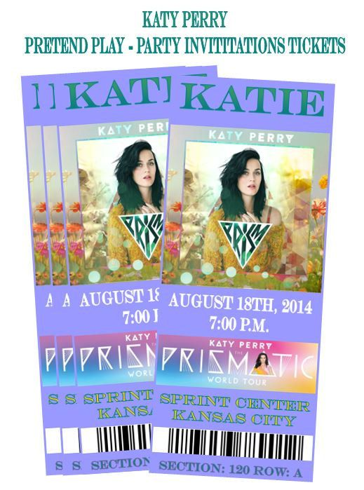 KATY PERRY Prismatic World Tour Prism 2014 by ShopPartyTales, $9.95 PARTY INVITATION THIS IS WAYY TOO ADORBALE