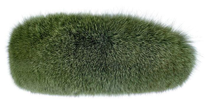 Green Fox Fur Head Band    #green #fur #hat #heandband #realfur #fox #realfox  #haute #style #accessories #fashion