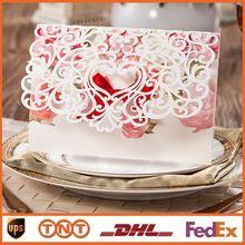 Лазерная резка свадебные приглашения с бантом цветы полые приглашения на день рождения открытки на свадьбу ну вечеринку питания бесплатная печать HQ1154(China (Mainland))