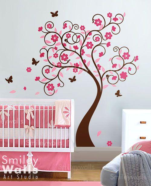 Cherry BlossomTree Wall Decal Wall Sticker children por smileywalls
