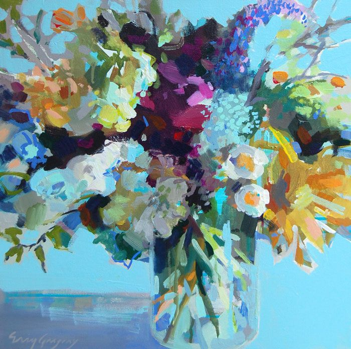 166 best abstract flowers images on pinterest flower art for Abstract art flowers paintings