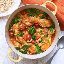 Chicken stew and rice